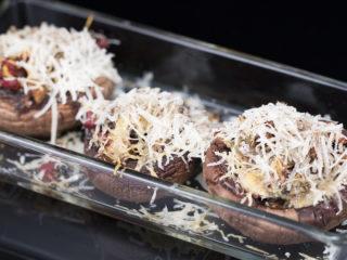 Smoked Ham and Parmesan Stuffed Mushrooms -