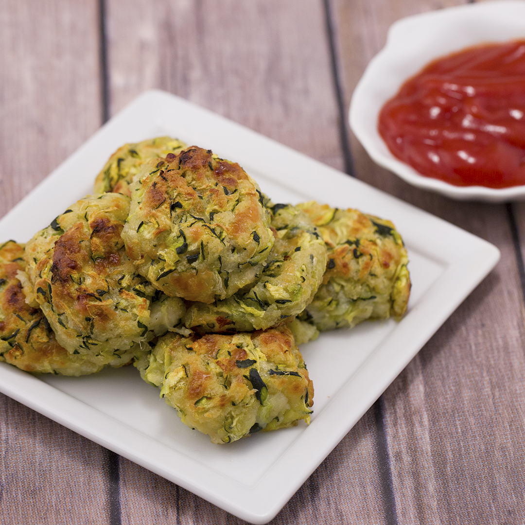Oven Baked Zucchini And Mozzarella Balls