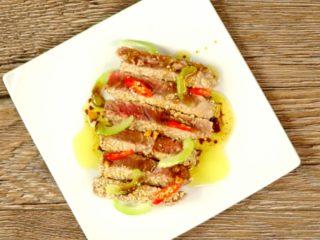 Sesame-Crusted Tuna -