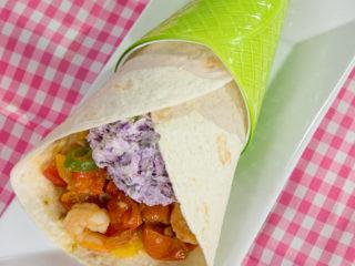 Shrimp and Veggie Tortilla Wrap -