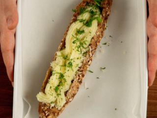 Submarine Sausage Meat Sandwich