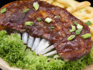 BBQ-Glazed Rack of Lamb -