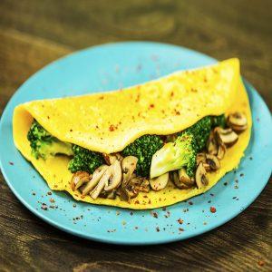 Mushroom and Broccoli Omelet -
