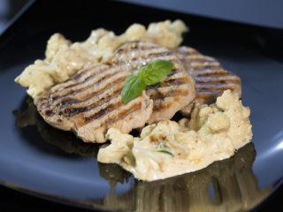Grilled Pork Tenderloin with Cauliflower Side -
