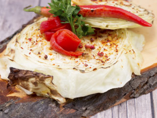 Garlic Roasted Cabbage Wedges -