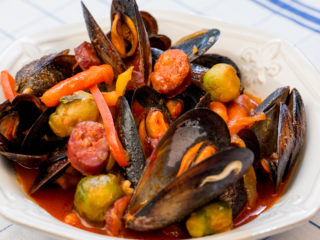 Mussel and Sausage Stew -
