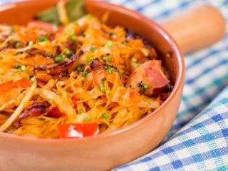 Cabbage and Bacon Stir-Fry -
