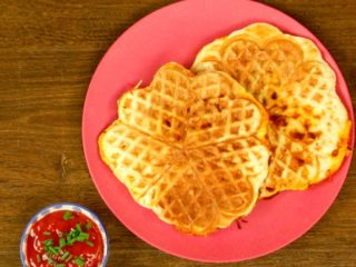 Waffle Maker Cooked Calzones -