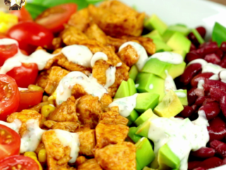 Spicy Chicken Breast and Baby Spinach Salad -