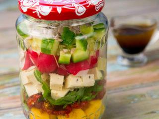 Sun-Dried Tomato, Polenta and Veggie Salad -
