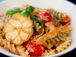 Fusilli with Chicken and Cherry Tomatoes -