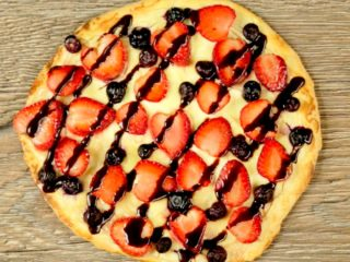 Fruits and Cheese Pizza -