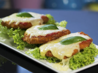 Chicken Fritters with Mozzarella -