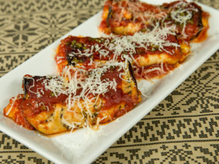 3-Cheese Baked Eggplant Rolls -