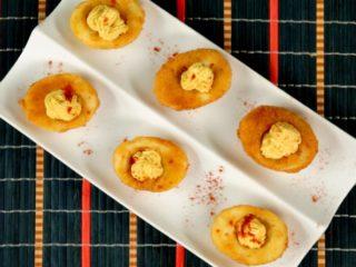 Deviled Fried Eggs -