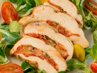 Chorizo and Mozzarella Filled Chicken Breast -