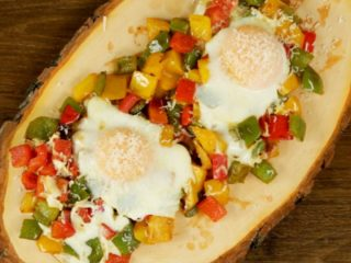 Sunny Side Up Eggs on Bell Peppers -