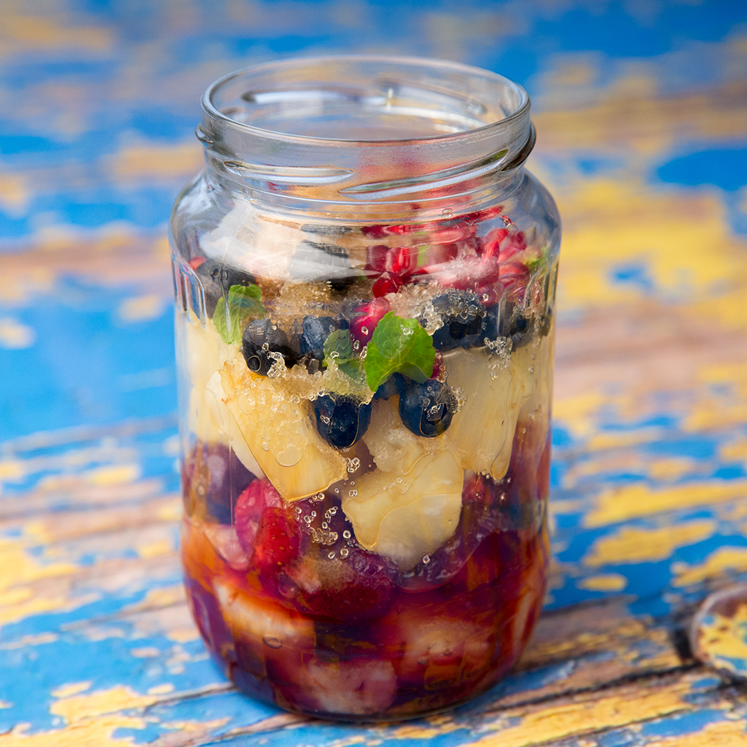 Mason Jar Fruit Salad -