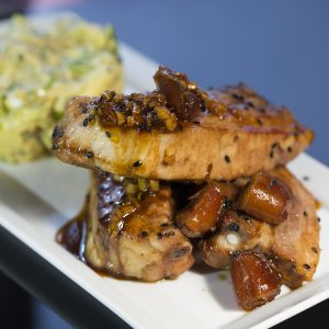 Ginger and Soy Sauce Glazed Pork Belly with Dates -