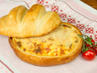 Egg and Cheese Bread Bowl -