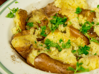 Butter Smashed Potatoes -
