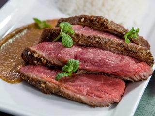 Beef Steak with Sweet Tahini Sauce -