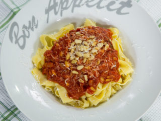 Tomato Sauce and Pine Nuts Pappardelle -