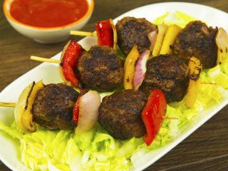 Beef Meatball Skewers -
