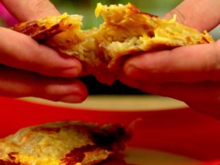 Sandwich Maker Potato Fritters -