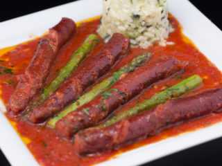 Sausage and Asparagus in Tomato Sauce -