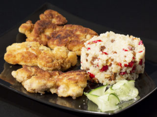 Crispy Chicken Thighs with Bulgur Risotto -
