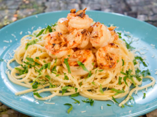 Garlic Butter Shrimp Spaghetti -