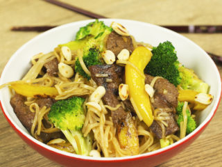 Beef and Broccoli Noodle Stir Fry -