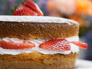 Strawberry Whipped Cream Cake -