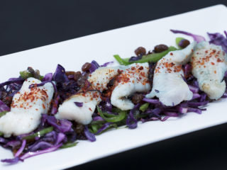 Braised Red Cabbage with Cod Fillet -