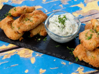 Breaded Pangasius with Mayo Dip -