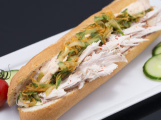 Leftover Turkey and Pate Baguette -