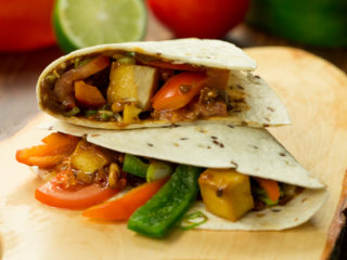 Sweet and Spicy Tofu Tortilla -