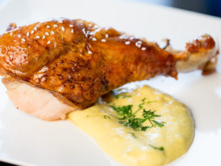 Roast Turkey Leg with Potato Mash -