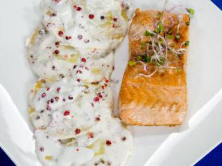 Salmon Ravioli -