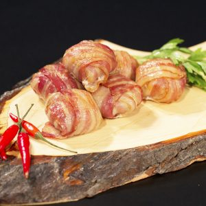 Bacon-Wrapped Guacamole Onion Rings -