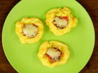 Mushroom Potato Nests -