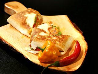 Butter-Fried Veggie Quesadilla -