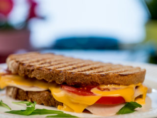 Grilled Ham and Cheese Sandwich -