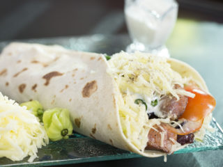 Sausage and Caramelized Onion Wraps -