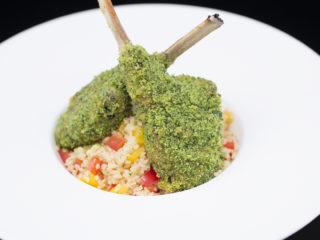 Herb-Crusted Lamb Chops -
