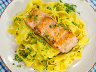 Creamy Salmon Pappardelle -