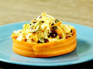 Cabbage, Carrot, and Pumpkin Seeds Salad -