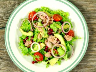 Tuna and Pomegranate Salad -