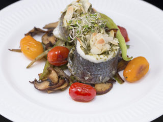 Pesto and Almond Sea Bream Rolls -